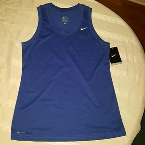 Nike dri fit tank top, blue, sz med. Gorgeous!